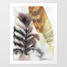 Two Feathers Art Print