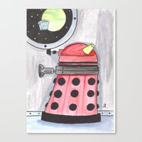 dalek Canvas Prints featuring Dalek by JerryFleming