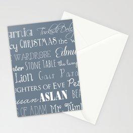 Narnia Celebration - gray Stationery Cards