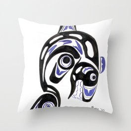 Killer Whale Number 1 Throw Pillow