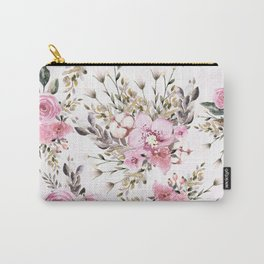 Roses Orchids and Wild Flowers Carry-All Pouch