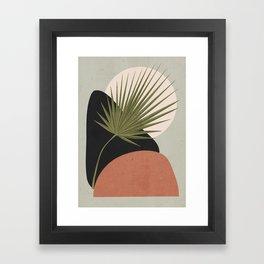 Tropical Leaf- Abstract Art 5 Framed Art Print