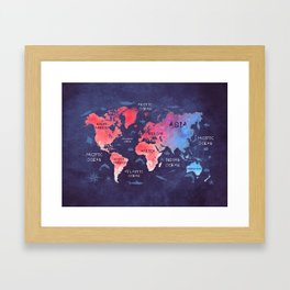 world map 44 Framed Art Print