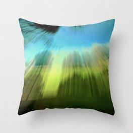 Abstract Victoria Park Costa Mesa CA Throw Pillow