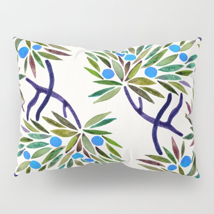 Bonsai Fruit Tree – Blue Palette Pillow Sham
