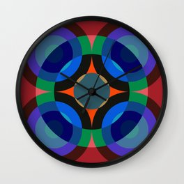 Blosomah - Colorful Abstract Art Wall Clock
