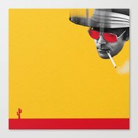 hunter s thompson Canvas Prints featuring Hunter S. Thompson by Zmudart