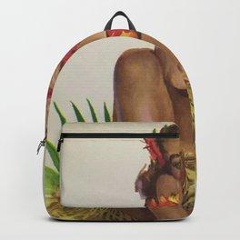 Hawaiian Hula Maiden Vintage Travel Poster Backpack