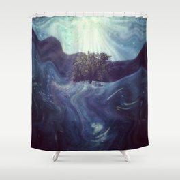 Waking to Wisdom Shower Curtain