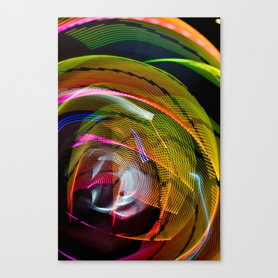 Experiments in Light Abstraction 3 Canvas Print