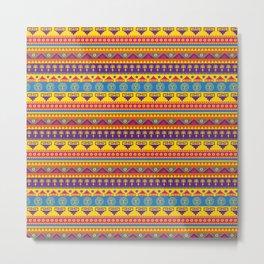 vivid mexican pattern Metal Print