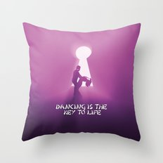 dancing is the key to life Throw Pillow