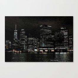 NYC Night Skyline 2015 Canvas Print