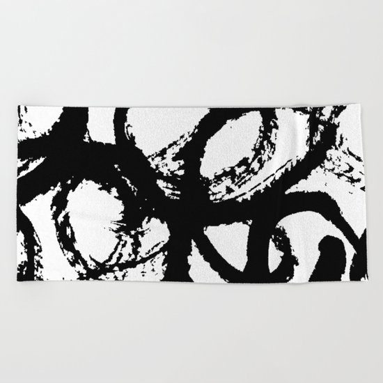 Dance Black and White Beach Towel
