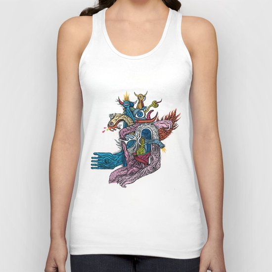 New god makina - Print available!! Unisex Tank Top