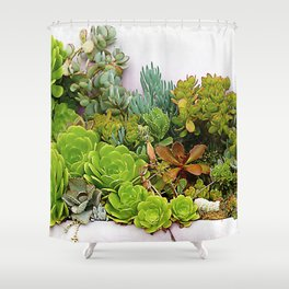 Avant-Garde Epic Succulent Succulents' Garden Shower Curtain