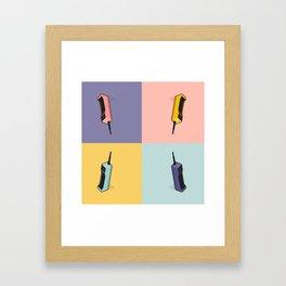 Cell Phone Framed Art Print