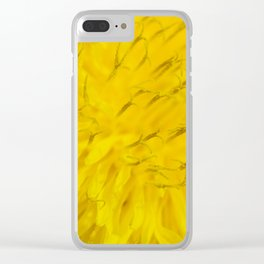 Dandelion flower in extreme close up. Clear iPhone Case