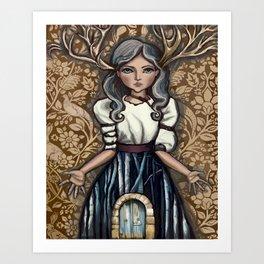 deer Woman Art Print