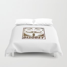 Disobey Duvet Cover