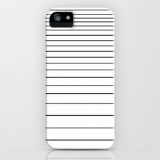 black on white stripes iPhone (5, 5s) Slim Case