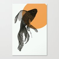 goldfish Canvas Prints featuring goldfish by morgan kendall