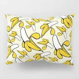 Yellow Nanner Banana Peel Pattern Pillow Sham