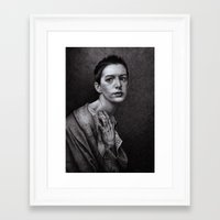 monika strigel Framed Art Prints featuring There Was A Time... Monika Jasnauskaite by Junkie Juice