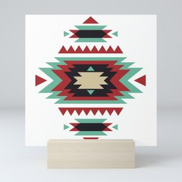 Geometric Abstract Tribal Indian Pattern Mini Art Print