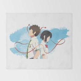 Your Name Minimalist (Taki and Mitsuha) Throw Blanket