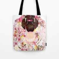 japanese Tote Bags featuring Japanese by Felicia Atanasiu
