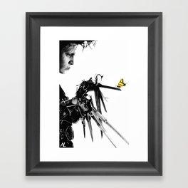 Edward Scissorhands Illustration Tim Burton Film Johnny Depp Movie Pop Art Horror Home Decor Framed Art Print