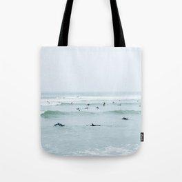 Tiny Surfers Lima, Peru Tote Bag