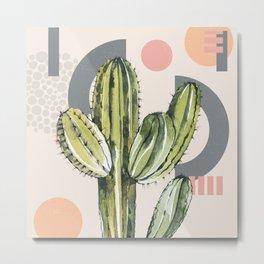 Abstract Cactus  Metal Print