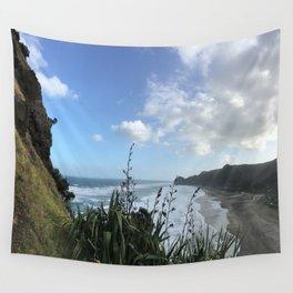 Alternate View: Lion Rock, Piha Beach, Auckland, New Zealand Wall Tapestry