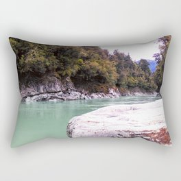 abonded george river scenic view wood forrest new zealand Rectangular Pillow