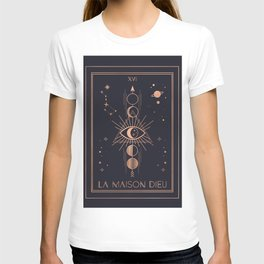 La Maison Dieu or The Tower Tarot T-shirt