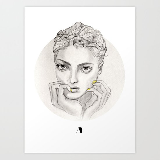 MY FAIR BRAIDY // CIRCLE Art Print