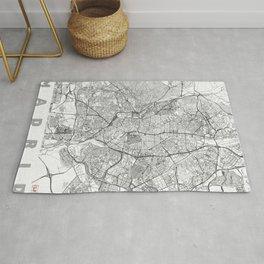 Madrid Map Line Rug