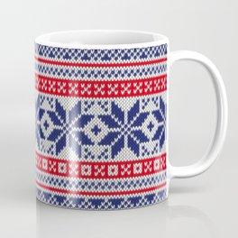Winter knitted pattern 7 Coffee Mug