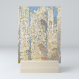 Rouen Cathedral, West Façade, Sunlight Mini Art Print