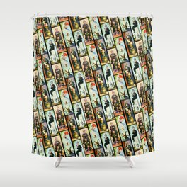 Haunted Mansion Stretch Paintings Shower Curtain