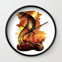 Snake-Town Wall Clock