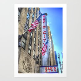 Radio City Music Hall New York Art Print