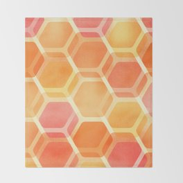 Pastel Hexa Throw Blanket