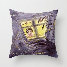 Afraid of the Dark Throw Pillow