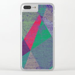 Geometric Differential Clear iPhone Case