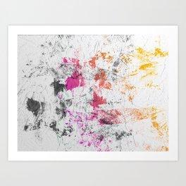 Blotchy Summer Paint Texture on White Art Print