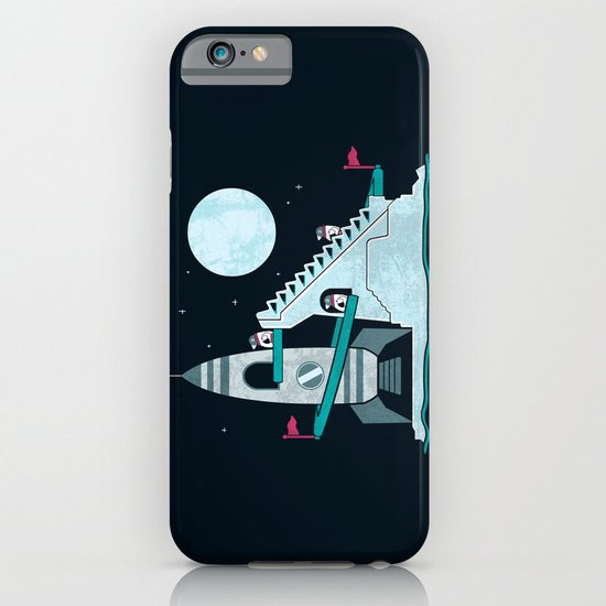 Penguin Space Race iPhone & iPod Case