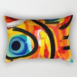 Abstract Art Good Energy Summer Vibes Rectangular Pillow